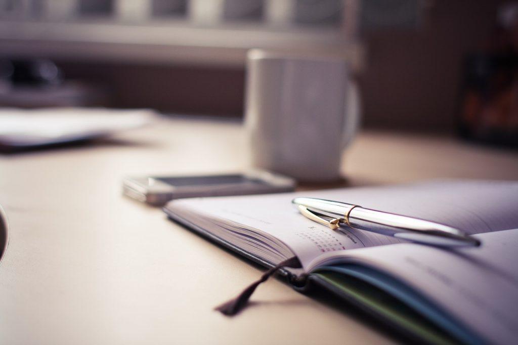 Agenda stylo télétravail