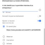 Exemple modification d'un post dans Google My Business